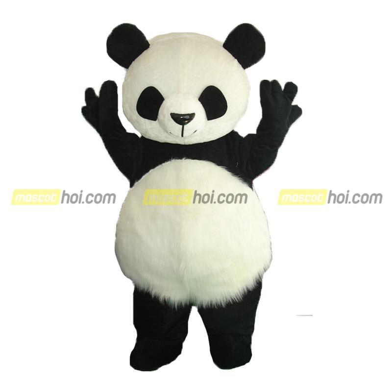 Mascot gấu trúc 4 làm phương tiện truyền thông PR cho sản phẩm của doanh nghiệp
