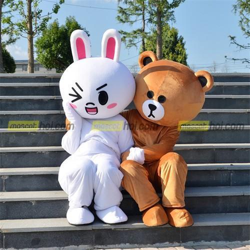 Xu hướng sử dụng Mascot gấu trúc hoặc nhân vật hoạt để tạo sự chú ý