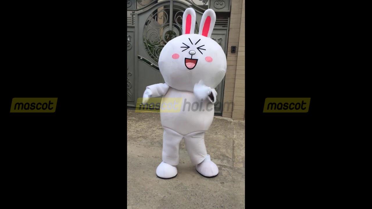 Mascot thỏ Cony siêu dễ thương