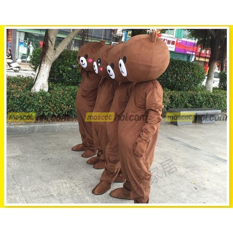 Đáng yêu ,dễ thương, tinh nghịch, chắc chắn không thể thiếu Mascot gấu Brown