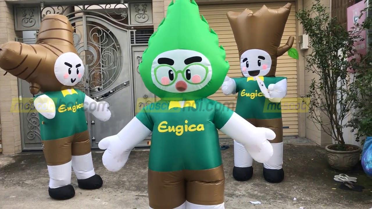 May mascot hơi chuyên nghiệp từ xưởng mascothoi.com