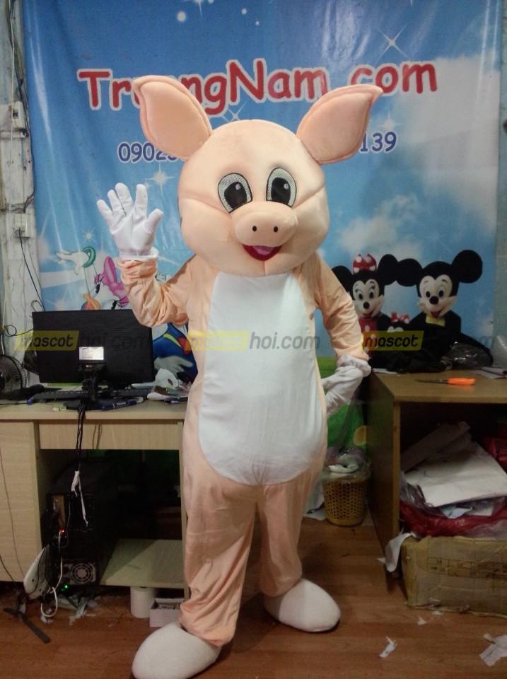 Trang phục linh thú May mascot heo hường